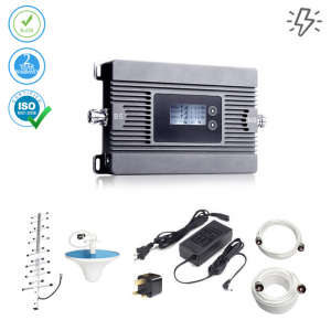 Cell Signal Booster 2G/3G/4G LTE – 3300 sq ft (Power Line)