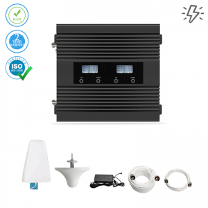Dual Network Mobile Signal Booster 3G & 4G LTE – 600m² (Power Line)